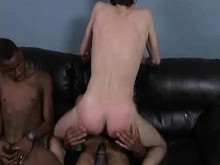 Blacks On Boys - Interracial Hardcore Fuck XXX Movie 14