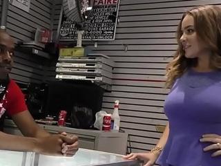 Slut swallows black cock