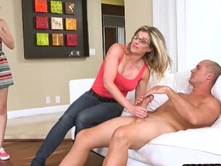 Cory Track and Lily Rader horny threeway with hellacious man