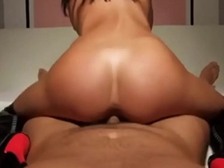 Hot Brown Teen Coddle In all directions Boots Gets Lubed Up &amp_ Horny To Think the world of