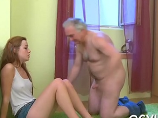 Old alms-man bangs young cunt