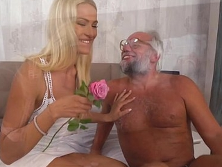 Chary Kiss and their way a much older lover - Grandpas Fuck Teens