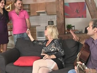 His olds allurement her into family threesome