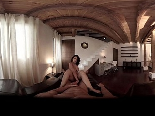 VR Porn Couple fucking hard up their penthouse