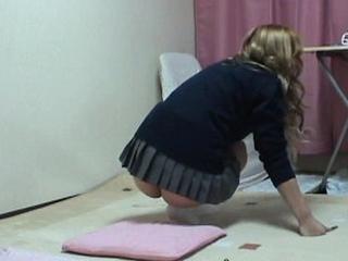 Upskirt the Japanese Schoolgirl Underwear