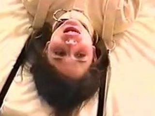 Pretty little teen brunette peril in gagged straitjacket 1