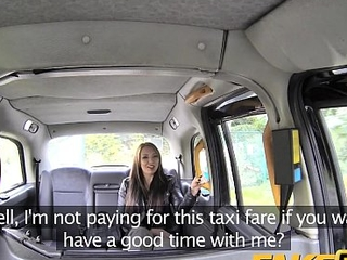 Fake Taxi Hot teen in the matter of red dress and stockings