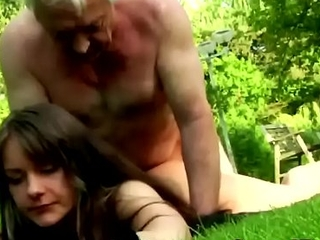 Having sex with older guys make this young brunette'_s life complete