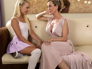 Hot Step Mom Teaching Her Tiny Teen Daughter