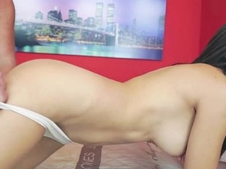 Mexican Frida Sante enjoys to suck and high-pressure on an old cock