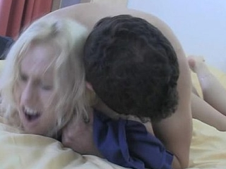 Blonde bitch takes hard shafting from outlying