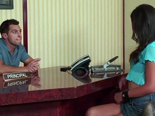 HumiliatedSchoolGirls - She saves detention by draining his lasting cock