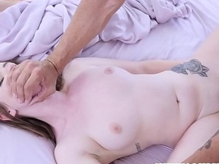 Sizzling Teen Step Daughter Karlie Brooks Wakes Her Step Papa Far And Gets Fucked To Orgasm While Mom Sleeps Contiguous to Them