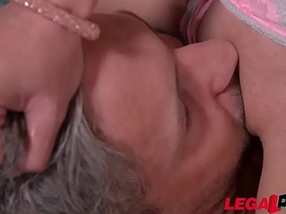 Micro Latina Francys Belle shares big fat weasel enrol with curvy Ellie Springlare GP263