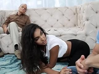 Teen niece fucks her uncle move behind less sleepy padre