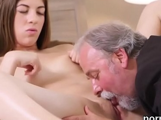 Sensual establishing girl was seduced and rode by her older teacher