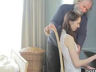 Cute schoolgirl was seduced and plowed by their way older teacher