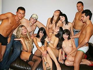 Student orgy cumshots