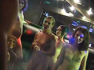 Nude drunk russian club lovemaking party