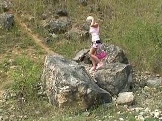 Young sexy hiker occupied in someone's skin country found and fucked