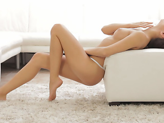 Brunette sweetie Michaela Isizzu uses slow touches to get her landing league together pussy wet and wild anent orgasmic wonder