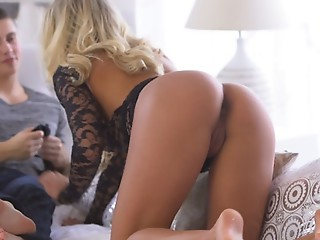 Horny Christen Courtney enjoys a long lusty blowjob and gives her man a stiffie ride in her cock craving creamy pussy