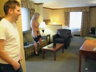 Stepmom graveolent talking dirty and rubbing pussy by son
