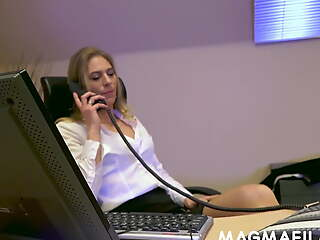 His boss demands cock up her nuisance