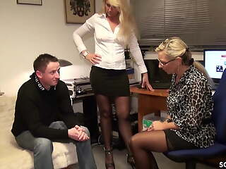 Young Guy Failure Fuck Duo German MILFs - Dad Join and Prod