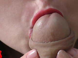 Horny Wife Sensual Blowjob and Cum in Mouth POV