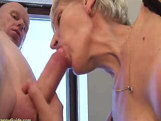 83 seniority old mom fucked by stepson