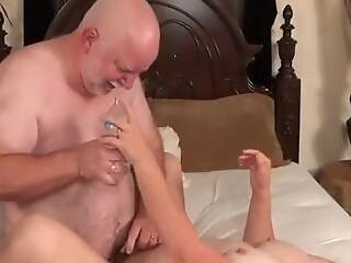 Beautiful mature couple have sex on camera of te first time