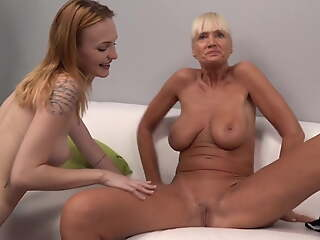 Hot Granny and younger girl get fucked