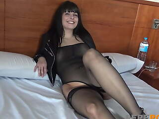 Amazing babe Africa wants to do a porno with say no to friend