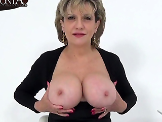 Aunt Sonia invites you over damper catching you wanking