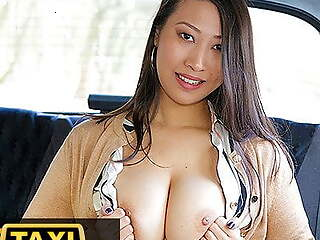 Deport oneself Taxi, Busty French Asian babe tries big euro cock