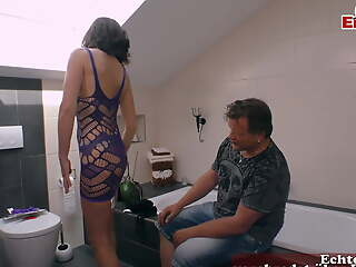 German old mature skinny housewife wife seduced husband