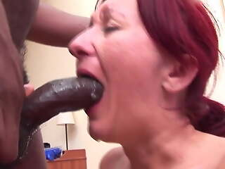 Hungarian Mature Gets Throat Fuck foreign BBC and Cum Play