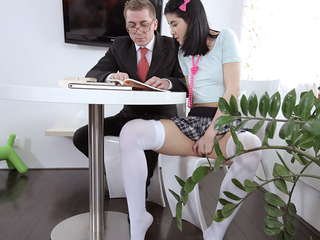 After a long time the waggish old tutor was sucking Jody's tits, she was playing with will not hear be required of pussy and she they were both so horny and were fucking in minutes.