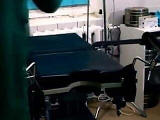 Gyno exam in hospital