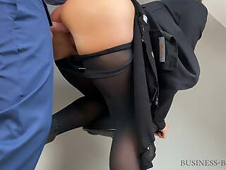 business meeting ends more cum on pantyhose -business-bitch