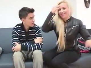 German blonde babe also wants a taste for Jordi's flannel