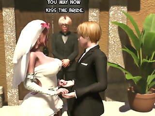 Shemale Wedding Swain - Ghetto-blaster Mam fucks the bride, Futanari