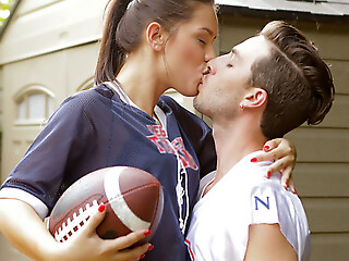Sports practice turns into a hardcore pussy pounding as A Alina Lopez peels off her clothes for a sweet and sexy game