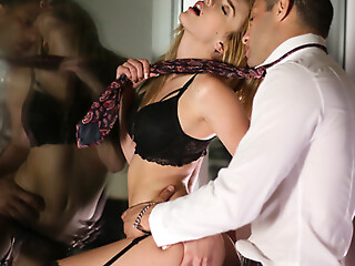 Busty babe Blake Eden puts on seductive lingerie and does a sultry dance before enjoying a hardcore pussy pounding