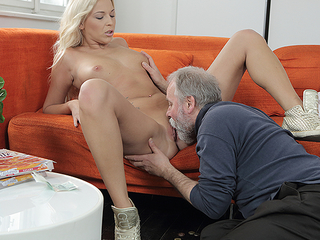 Lucky abb� heats his dick inside a juvenile pussy. He penetrates a cutie from behind and gives her a lot of outr� moments first of all the couch.