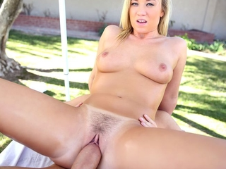 Bailey Brooke gets massaged and has sex wide her suppliant under a difficulty canopy.