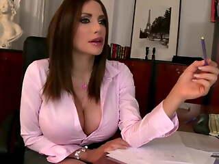 Office sex with milf. Perfect body slut. Stockings slut. HD