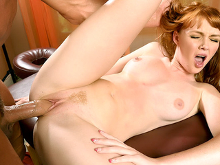 Interesting Redhead Spread Legged Be worthwhile for a Cock