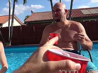 Nervous Microscopic Wife And Best Buddy Fuck While You Watch!!